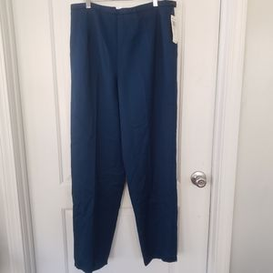 NWT Pendleton Dark teal 100%virgin wool pants sz14